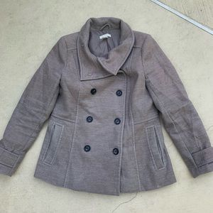 Tan pea coat from H&M size 14
